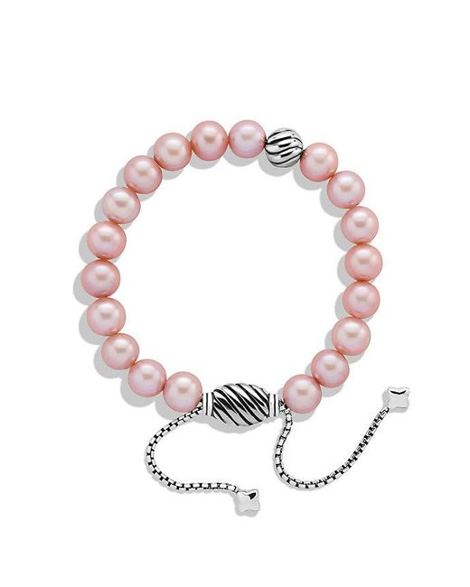 David Yurman | Spiritual Beads Bracelet With Pink Pearls | Lyst