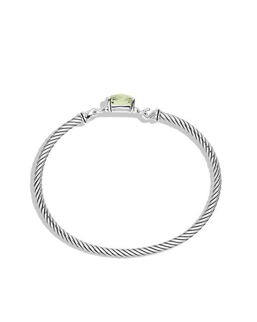 David Yurman | Metallic Petite Wheaton Bracelet With Prasiolite And Diamonds | Lyst