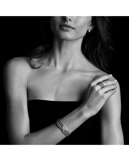 David Yurman | Metallic Labyrinth Double-loop Cuff Bracelet Bracelet With Diamonds, 19mm | Lyst