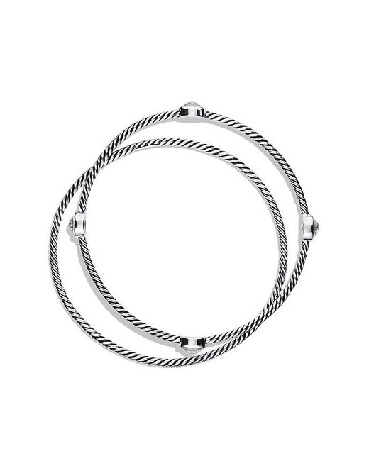 David Yurman | Metallic Color Classics Bangles With Crystal | Lyst