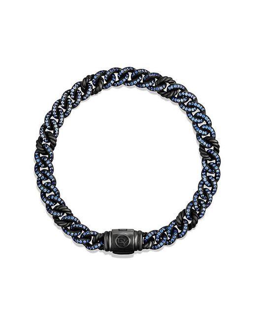 David Yurman | Petite Pavé Curb Link Bracelet With Blue Sapphires | Lyst