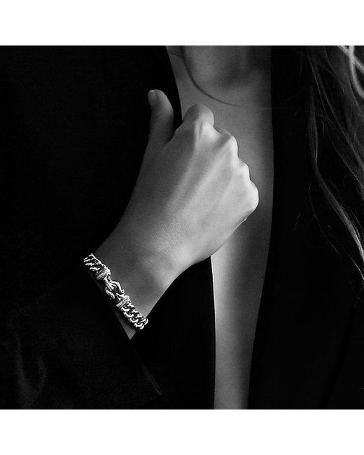 David Yurman   Metallic Buckle Single-row Bracelet With 18k Gold, 10mm   Lyst