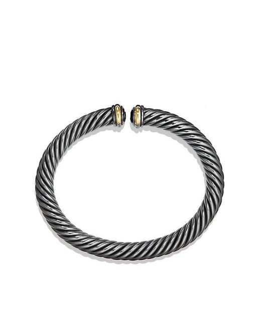 David Yurman | Metallic Cable Spira Bracelet With 18k Gold, 7mm | Lyst