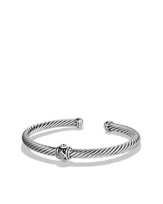 David Yurman | Metallic Renaissance Bracelet With Diamonds, 5mm | Lyst