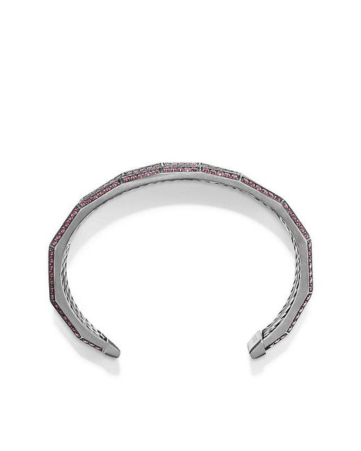 David Yurman | Red Stax Three-row Pave Bracelet With Ruby And Diamonds, 22mm | Lyst