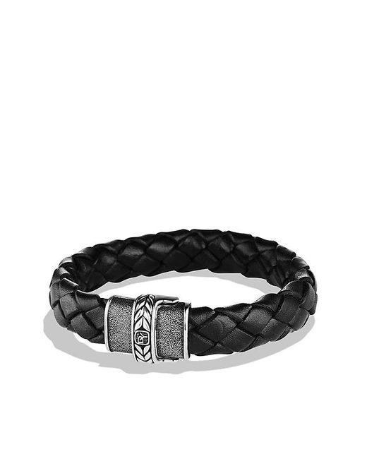 David Yurman | Chevron Bracelet In Black Leather for Men | Lyst