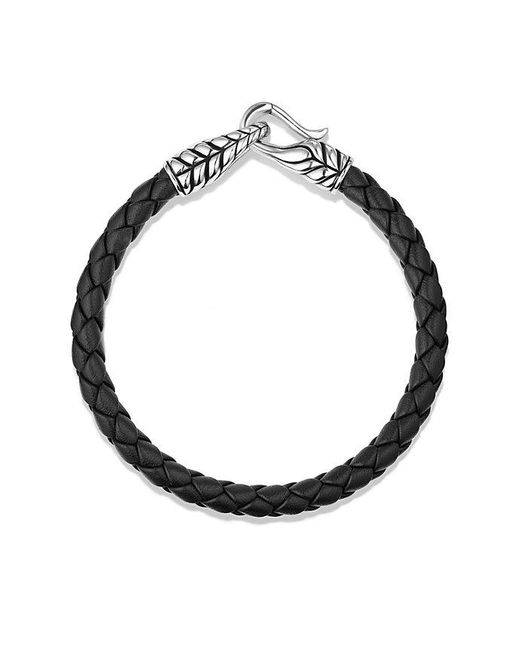 David Yurman | Chevron Woven Leather Bracelet In Black, 6mm for Men | Lyst