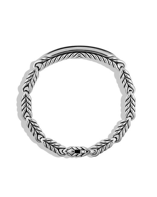 David Yurman | Chevron Id Bracelet With Black Onyx for Men | Lyst