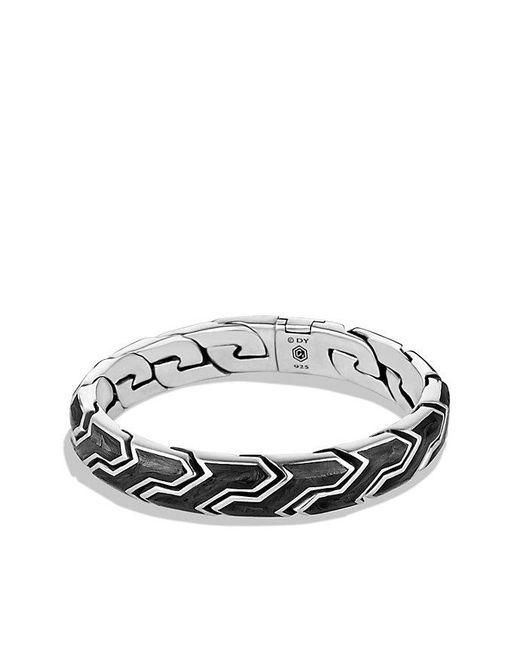 David Yurman | Black Forged Carbon Link Bracelet for Men | Lyst