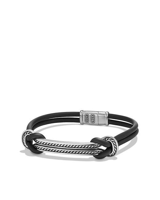 David Yurman | Maritime Rubber Reef Knot Id Bracelet In Black for Men | Lyst