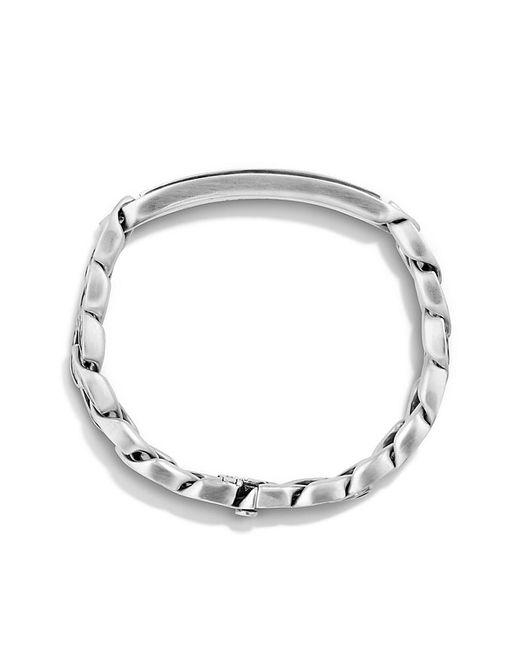 David Yurman | Metallic Maritime Curb Link Id Bracelet With Black Onyx for Men | Lyst