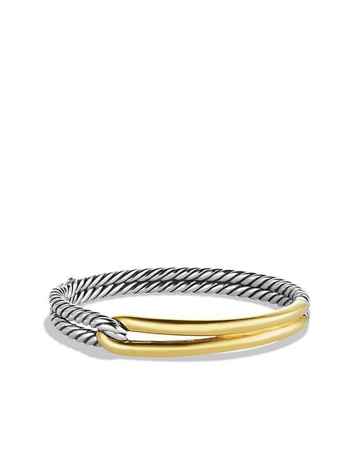 David Yurman - Metallic Labyrinth Single-loop Bracelet With 18k Gold, 10mm - Lyst