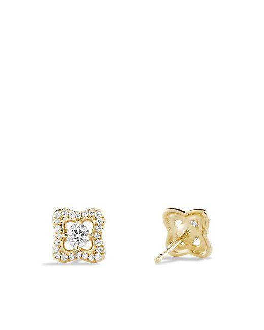 David Yurman - Metallic Venetian Quatrefoil® Earrings With Diamonds In 18k Gold - Lyst