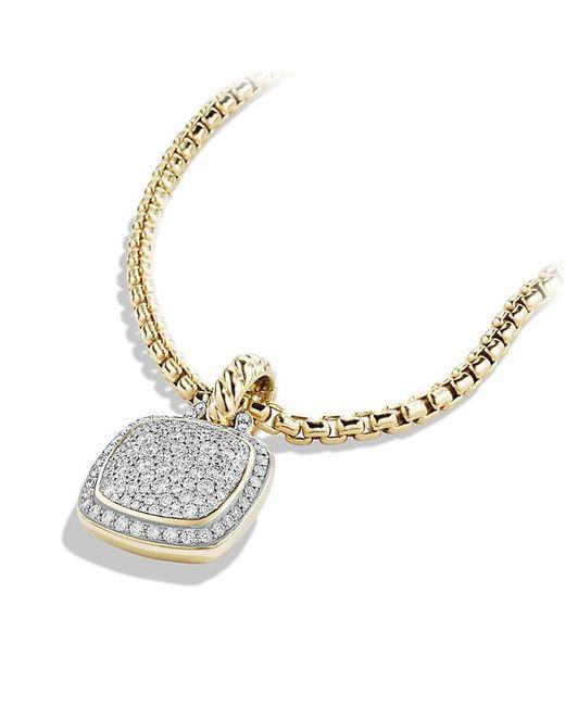 David Yurman - Metallic Albion Pendant With Diamonds In 18k Gold, 11mm - Lyst