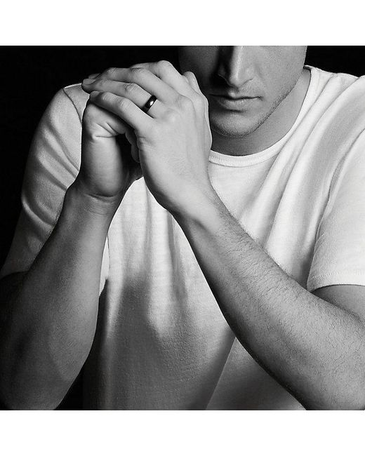 David Yurman | Dy Eden Band Ring In Black Titanium, 6mm for Men | Lyst