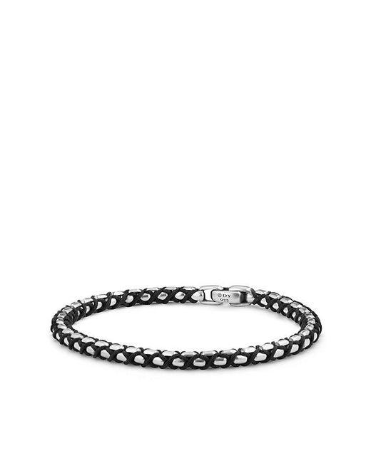 David Yurman - Woven Box Chain Bracelet In Black for Men - Lyst