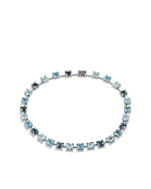 David Yurman - Châtelaine Necklace With Hampton Blue Topaz, Blue Topaz And Diamonds - Lyst