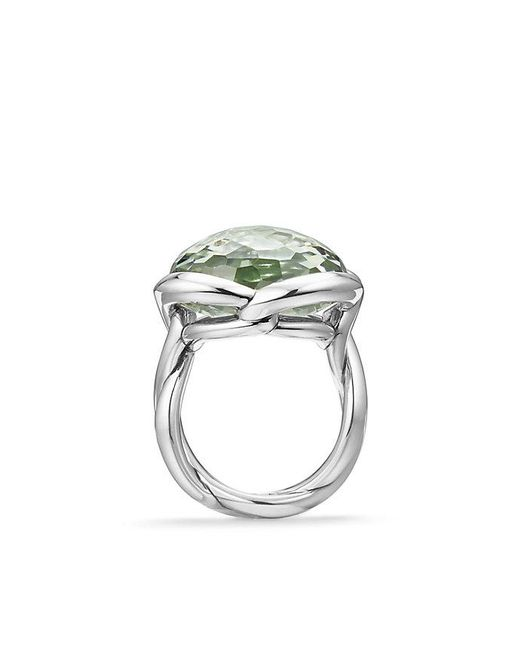 David Yurman - Multicolor Continuance® Ring With Prasiolite, 20mm - Lyst