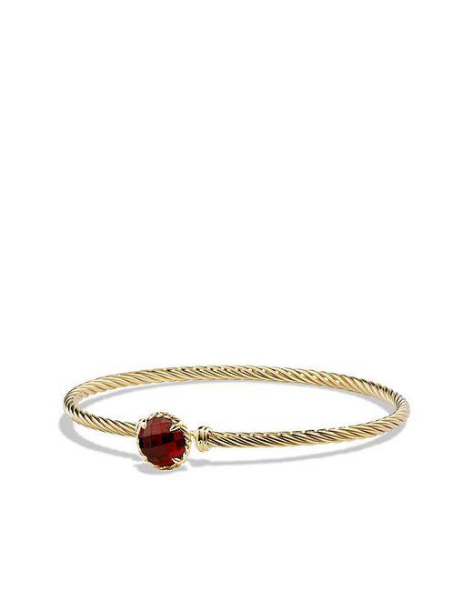David Yurman | Metallic Châtelaine Bracelet With Garnet In 18k Gold | Lyst