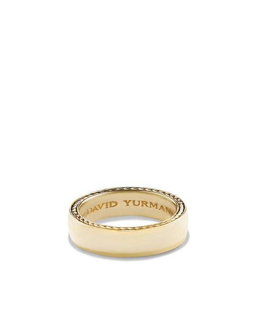 David Yurman | Metallic Streamline Band Ring In 18k Gold, 6mm for Men | Lyst