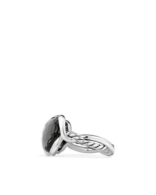 David Yurman - Metallic Continuance® Ring With Hematine And Crystal, 14mm - Lyst