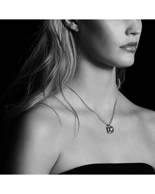David Yurman | Metallic Châtelaine® Pendant Necklace With Citrine And Diamonds In 18k Gold, 14mm | Lyst