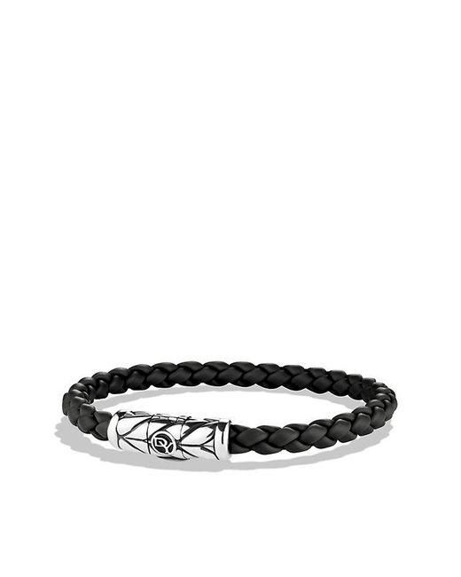 David Yurman - Chevron Woven Rubber Bracelet In Black, 6mm for Men - Lyst