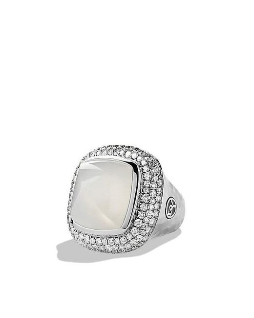 David Yurman | Blue Albion Ring With Moon Quartz And Diamonds | Lyst