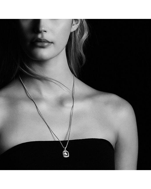 David Yurman | Metallic Albion® Pendant With Smoky Quartz, Diamonds And 18k Gold, 11mm | Lyst
