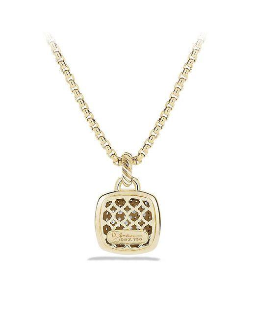 David Yurman | Metallic Albion Pendant With Diamonds In 18k Gold, 14mm | Lyst