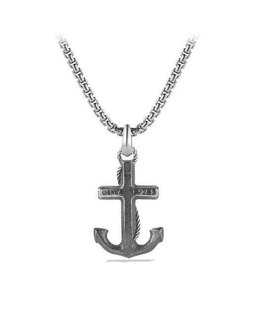David Yurman | Metallic Maritime Anchor Amulet | Lyst