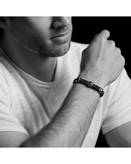 David Yurman | Black Forged Carbon Woven Three-station Bracelet | Lyst