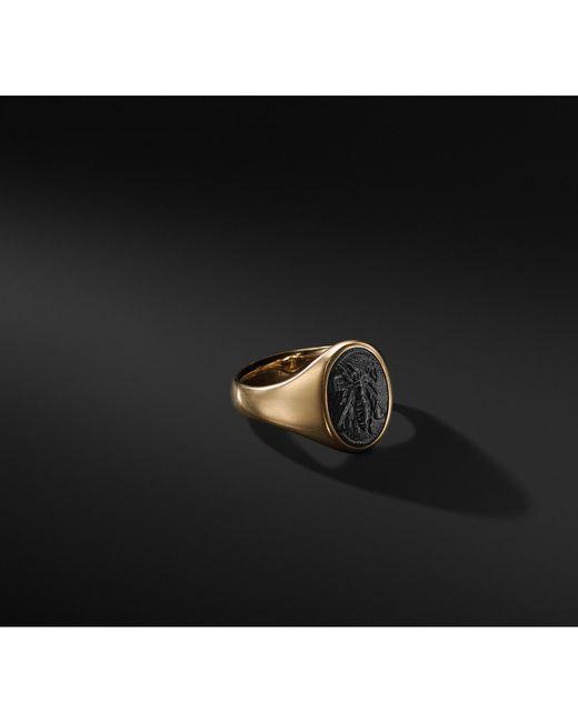 David Yurman - Metallic Petrvs Bee Signet Pinky Ring In 18k Gold for Men - Lyst