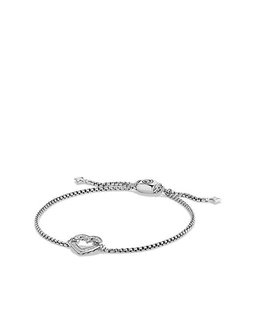 David Yurman - Metallic Cable Collectibles Heart Station Bracelet With 18k Gold - Lyst