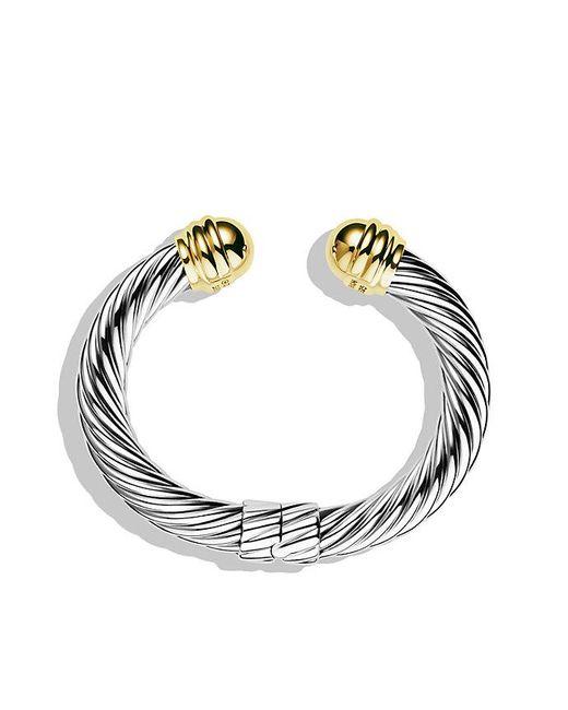 David Yurman | Metallic Cable Classics Bracelet With 14k Gold, 10mm | Lyst