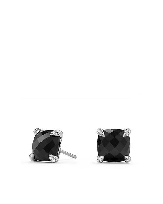 David Yurman - Chatelaine® Stud Earrings With Black Onyx And Diamonds, 9mm - Lyst