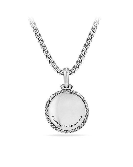 David Yurman - Metallic Cable Collectibles Lotus Amulet With Diamonds - Lyst