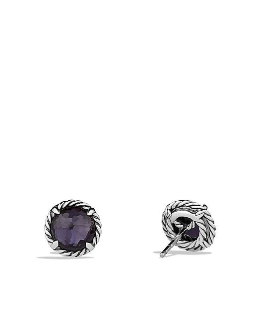 David Yurman | Châtelaine® Earrings With Black Orchid | Lyst
