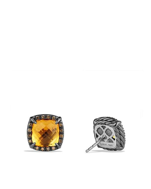 David Yurman | Yellow Châtelaine Stud Earrings With Citrine And Cognac Diamonds | Lyst