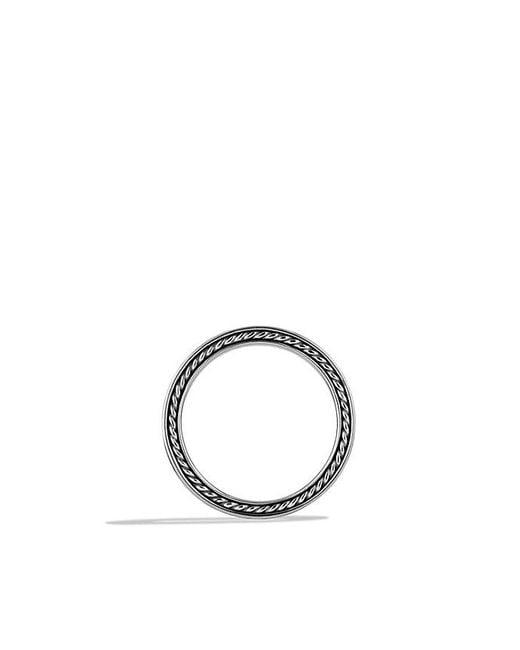 David Yurman - Metallic Streamline Two-row Band Ring With Gray Sapphires - Lyst