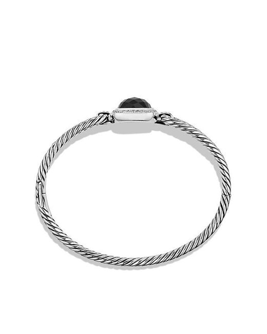 David Yurman | Albion® Bracelet With Black Onyx And Diamonds, 11mm | Lyst