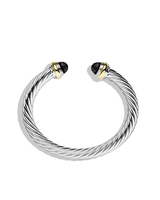 David Yurman - Cable Classics Bracelet With Black Onyx And 14k Gold, 7mm - Lyst