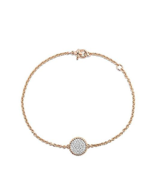 David Yurman - Metallic Cable Collectibles Bracelet With Diamonds In 18k Rose Gold - Lyst