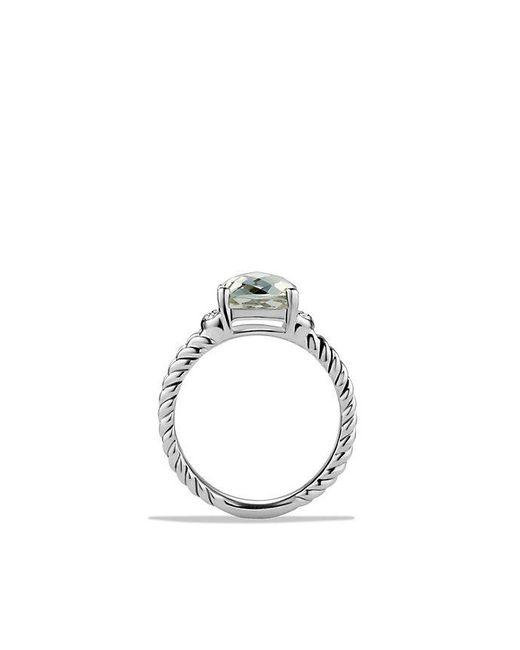 David Yurman | Metallic Petite Wheaton® Ring With Prasiolite And Diamonds | Lyst