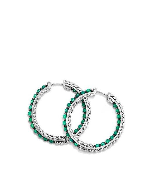 David Yurman - Osetra Hoop Earring With Green Onyx - Lyst