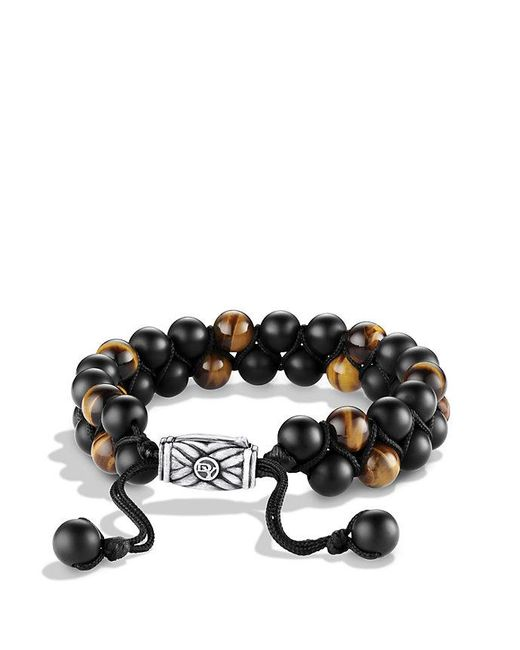 David Yurman | Spiritual Beads Two-row Bracelet With Black Onyx And Tiger's Eye | Lyst