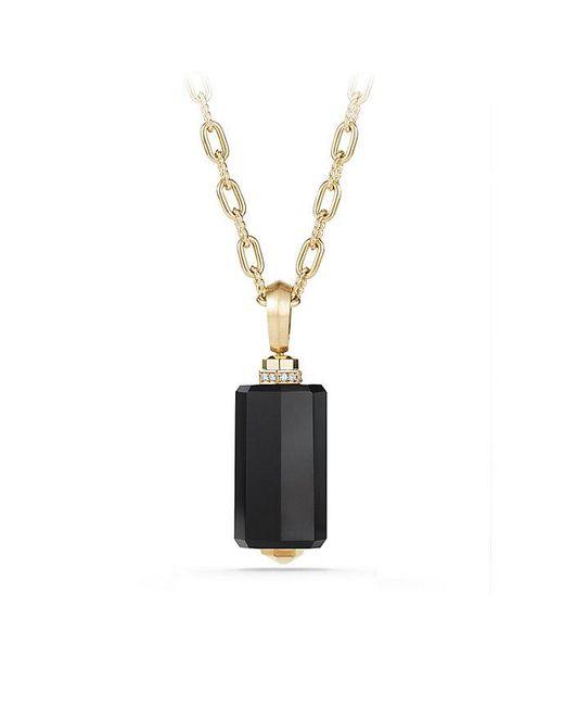 David Yurman - Metallic Barrels Pendant Necklace With Diamonds & Black Onyx In 18k Gold - Lyst