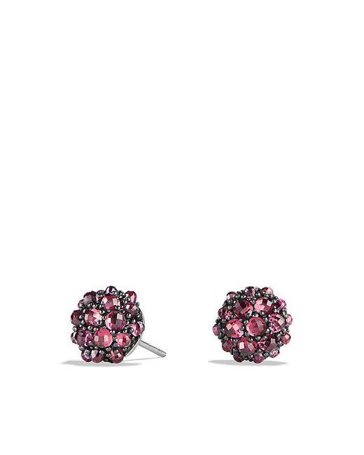 David Yurman - Multicolor Osetra Stud Earrings With Rhodalite Garnet, 10mm - Lyst