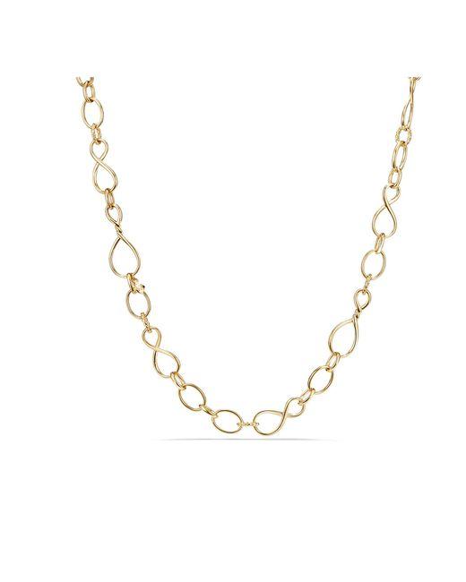David Yurman - Metallic Continuance Medium Chain Necklace In 18k Gold - Lyst