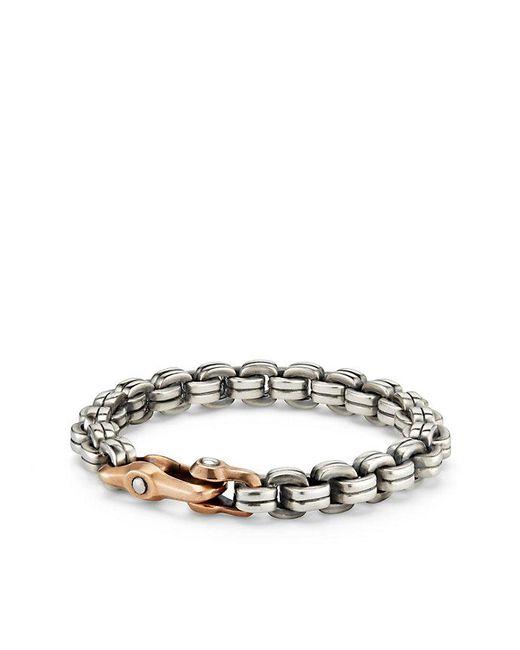 David Yurman   Metallic Anvil Chain Bracelet With Bronze   Lyst